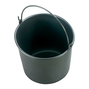 Bouwemmer 12 liter zwart